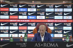 Former AS Roma Sporting Director Walter Sabatini holds a press conference to announce his decision to leave the club at Centro Sportivo Fulvio Bernardini on October 7, 2016 in Rome, Italy.